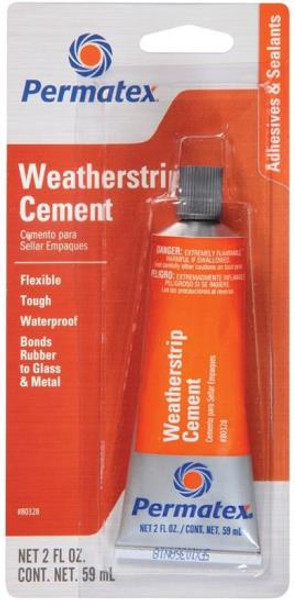 Permatex Model DCD-19, Weather Strip Cement, 2 Oz