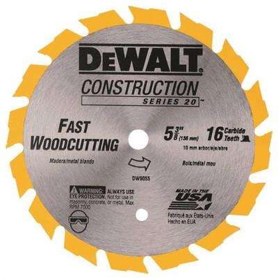 """DeWalt, DW9055, Circvular Saw Blade, 5-3/8"""", 16 ATeeth"""