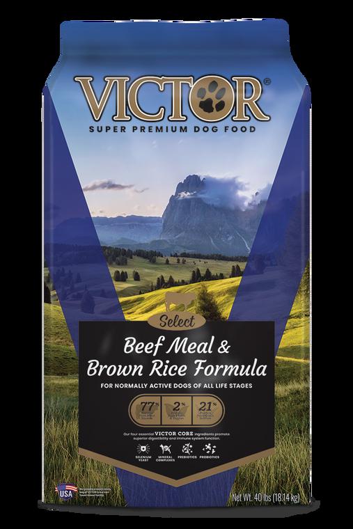 Victor Beef & Brown Rice 40LB
