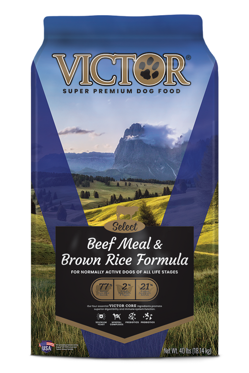Victor Beef & Brown Rice 40LB