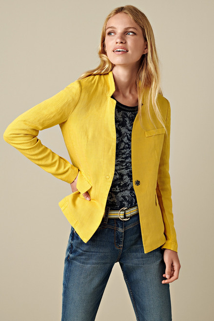 Sandwich Yellow linen/tencel casual Jacket