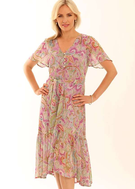 Pomodoro Romantic Paisley Midi Dress