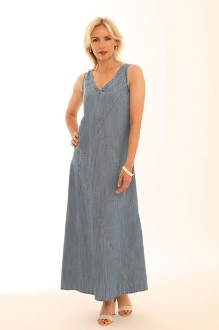 Pomodoro Lyocell sleeveless Maxi dress