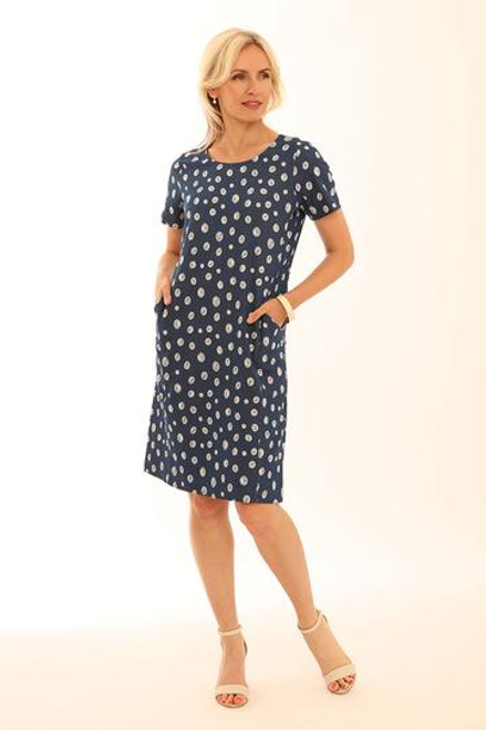 Pomodoro Irregular Spot short sleeved dress