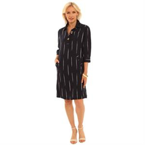 Pomodoro Navy shirt dress