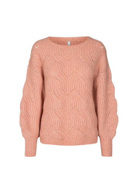 Soya Concept Pink Cable Sweater