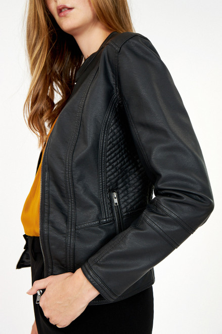 Soya concept faux leather jacket