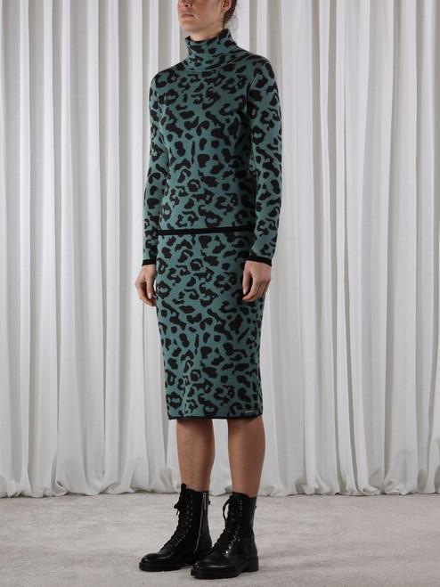 Rino & Pelle Leopard knitted skirt