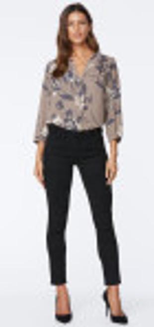 NYDJ Black faux suede Ankle skinny jean