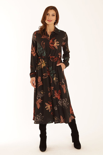 Pomodoro Autumn Leaf Midi Dress.