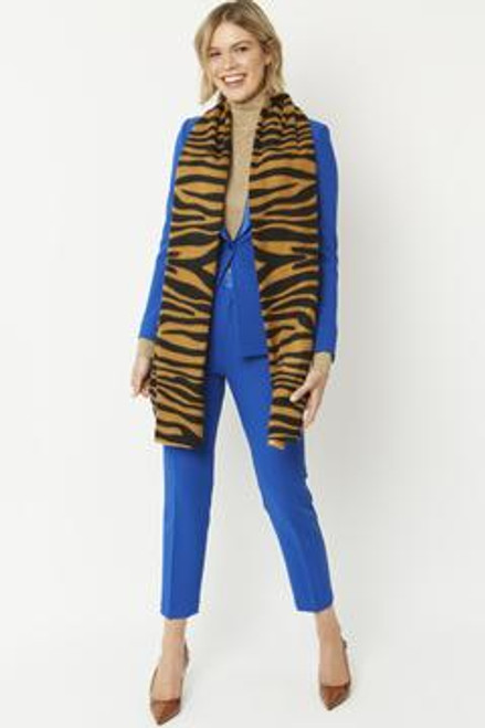 Cashmere blend tiger print wrap.
