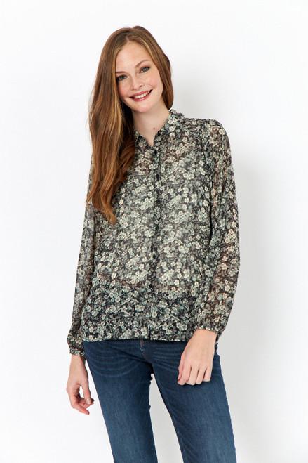 Soya Concept sage floral blouse