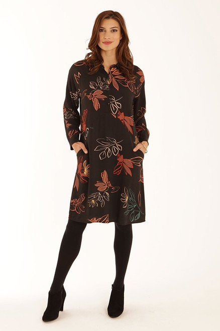 Pomodoro autumn Leaf Tunic dress