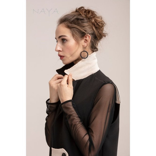 Naya Jersey top with chiffon sleeves.