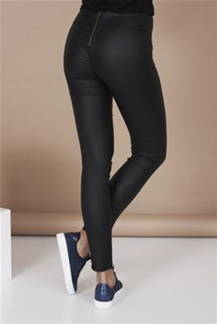 Cream Bleus Coated leggings