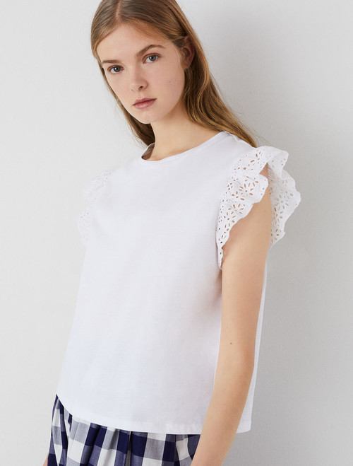 Emme Calate Frill edged sleeve top