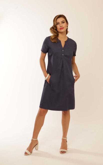 Pomodoro Solid Tencel short sleeved Dress