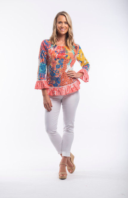 Orientique long sleeved boho top