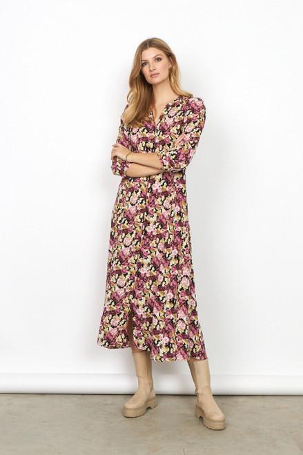 Soya concept floral pinks midi dress