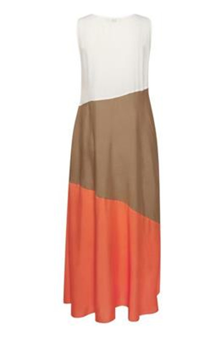 Cream panelled Maxi Dress