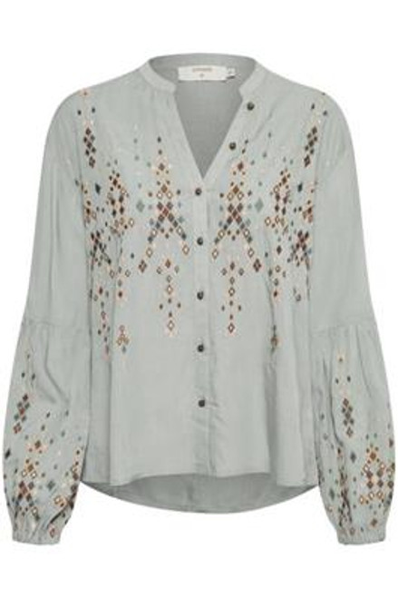 Cream clothing Embroidered Blouse