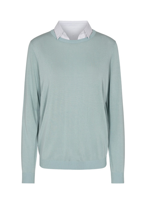 Soya Concept Eau'd nil Sweater with removable collar