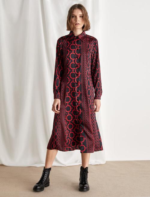 Emme Chain print shirt dress