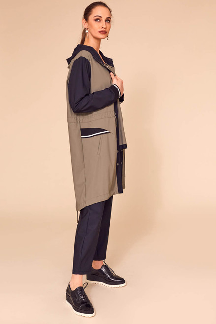 Long coat with sporty details