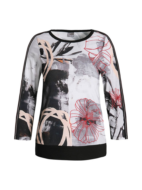 Dolcezza abstract panelled top
