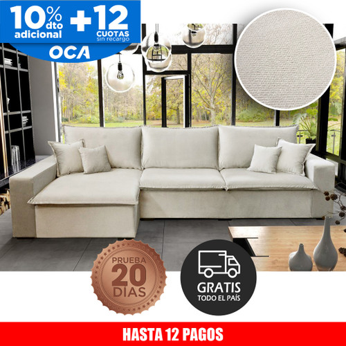 Sofá chaise Sonhare 3 cuerpos white off