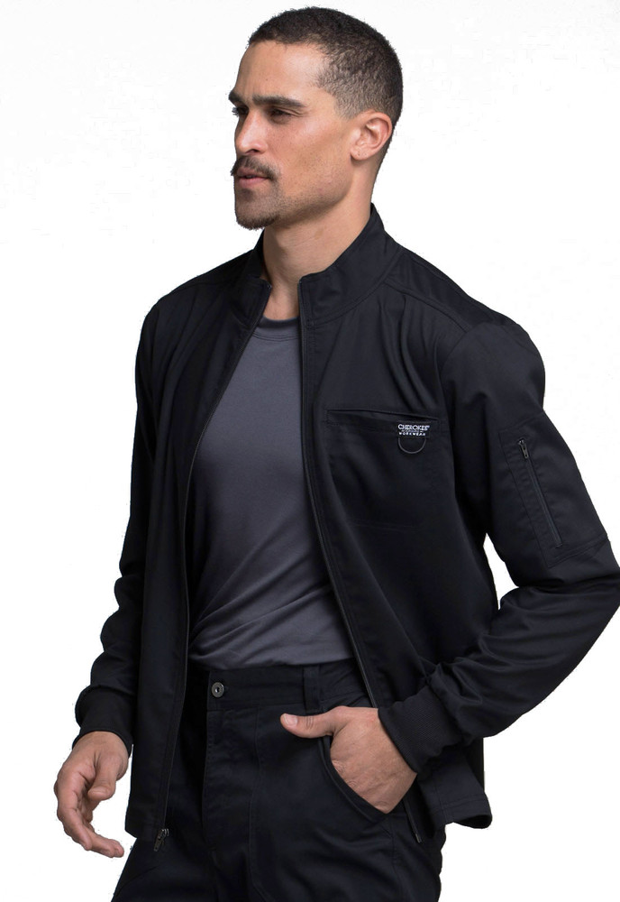 Cherokee Scrubs REVOLUTION Men/'s New Fashion Zip Front Jacket WW320