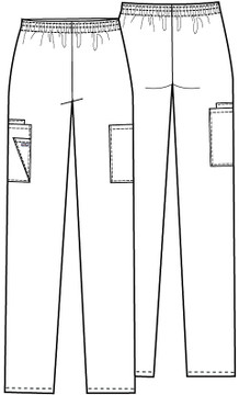 Cherokee Elastic Waist Cargo Scrub Pant