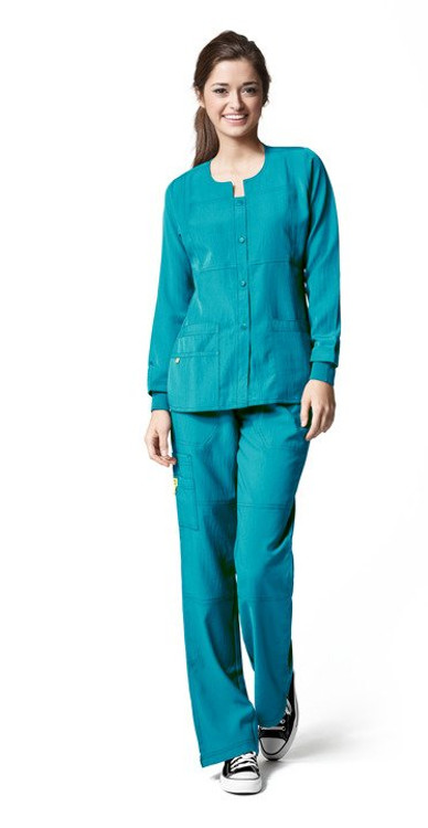 Wonderwink Four-Stretch Sporty Button Front Women's Jacket (12 Color Options)