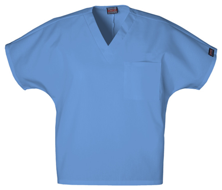 Cherokee Unisex V-Neck 1 Pocket Solid Scrub Top