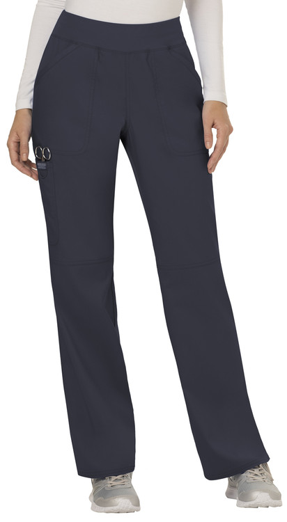 Cherokee Revolution Women's Mid Rise Straight Leg Pull-on Pant