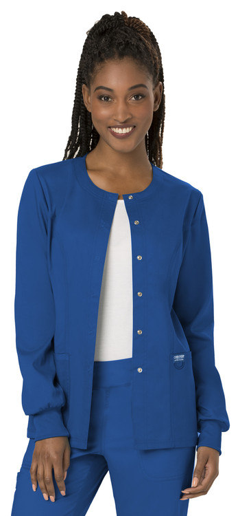 Cherokee Revolution Women's Snap Front Warm-up Jacket