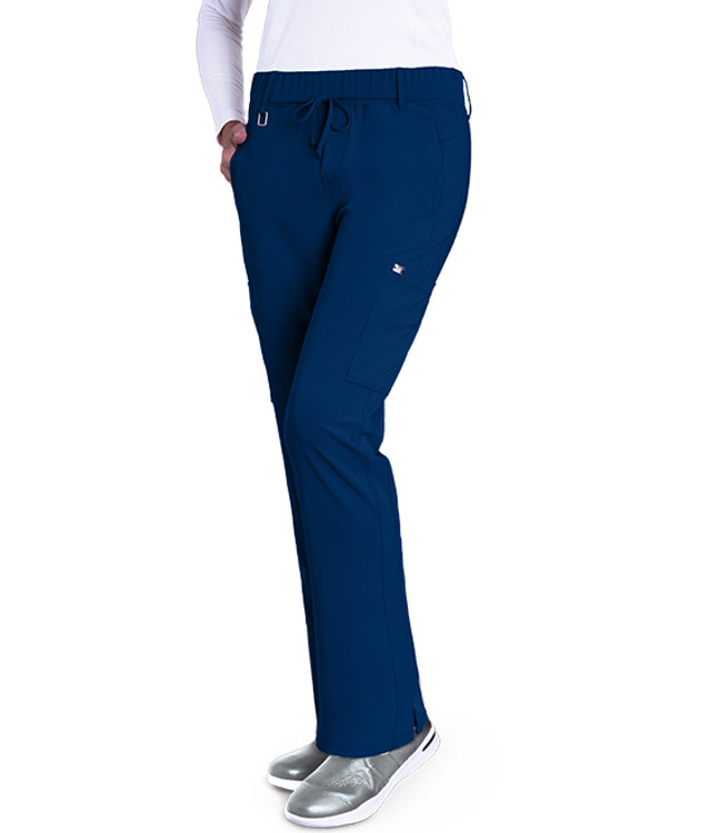 Grey's Anatomy Signature Women's 2218 6 Pocket Double Cargo Midrise Pants