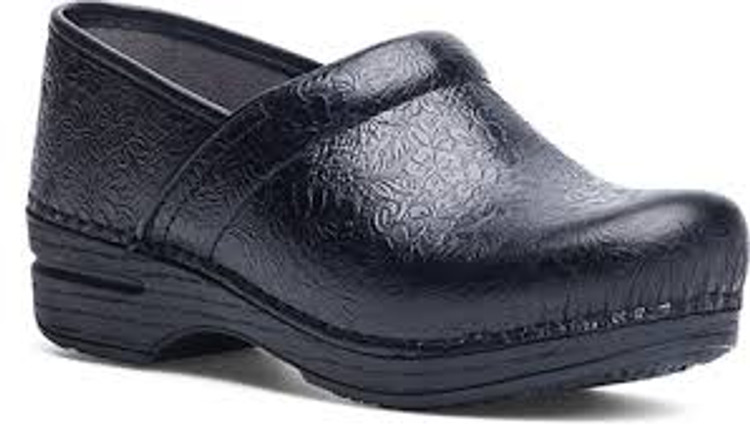 Dansko XP 2.0 Floral Tooled Black