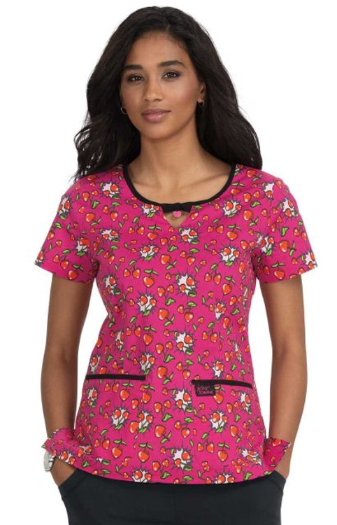 Betsey Johnson Rose Cherry Heart Pow