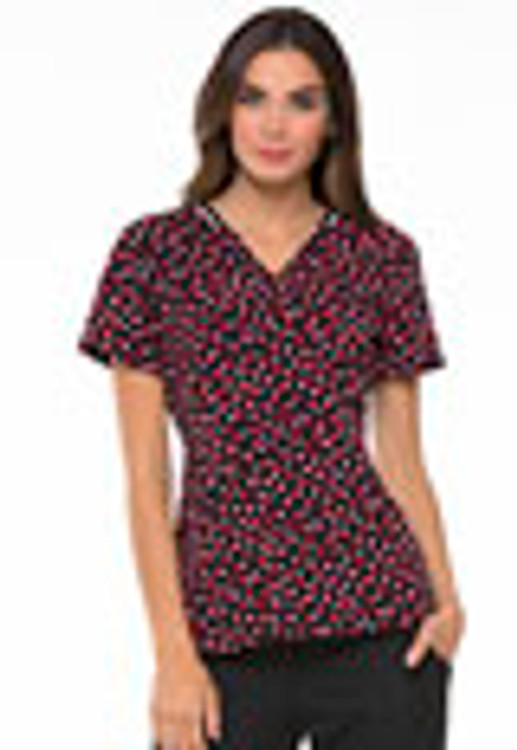 Elle Print Top Dot So Perfect Red