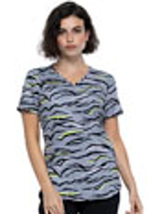 Cherokee Print Top Zebra Pop