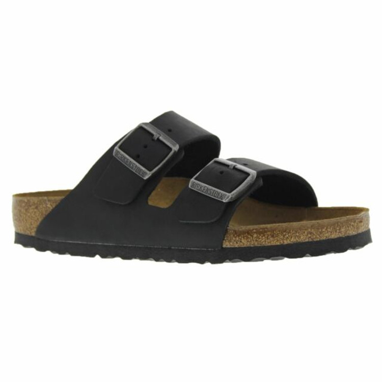 Birkenstock Arizona Black Leather Soft Footbed