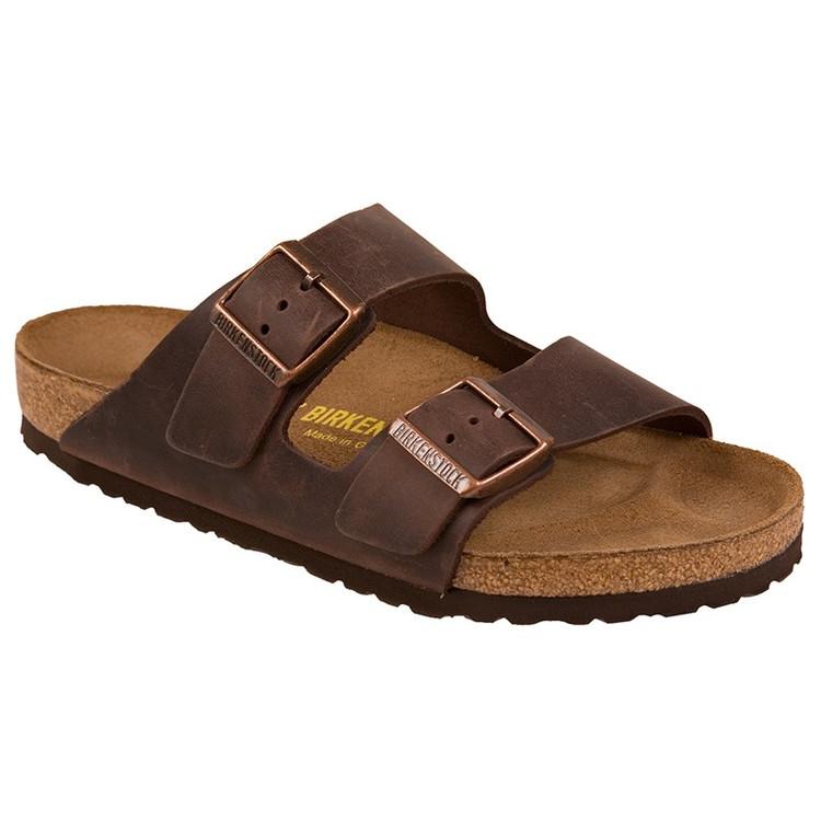 Birkenstock Arizona Habana Leather Soft Footbed