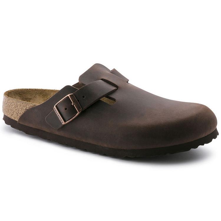 Birkenstock Boston Habana Leather Soft Footbed