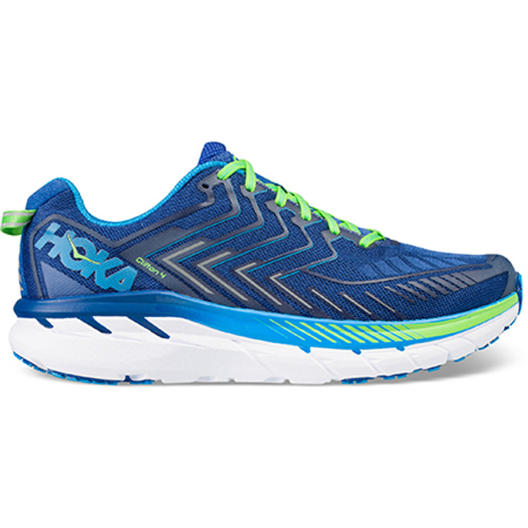Hoka Men's Clifton 4 True Blue Jasmine Green