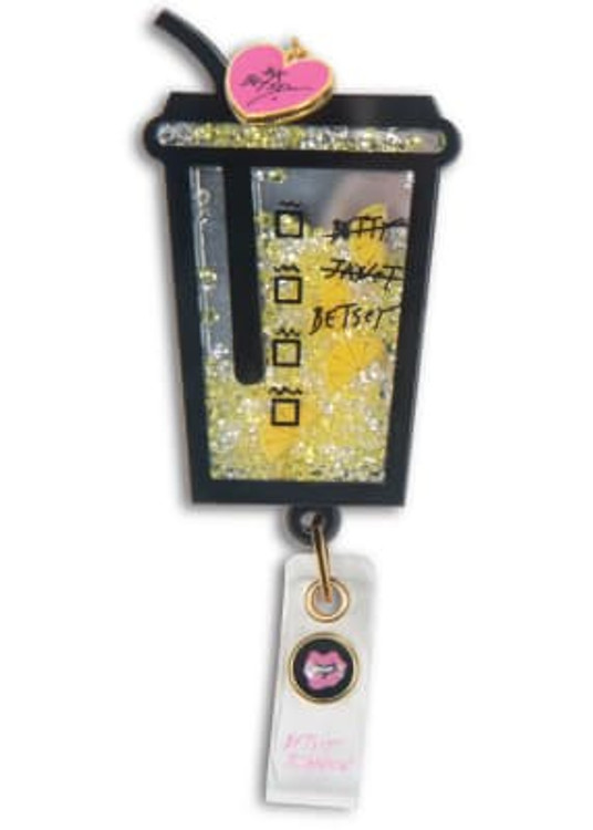 Betsey Johnson  Badge reel