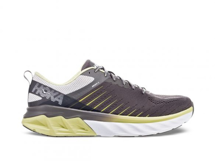 Hoka Men's Arahi Charcoal Lime