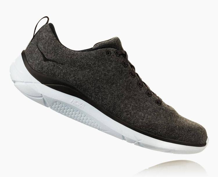 Hoka Men's Hupana Wool Neutral Gray White