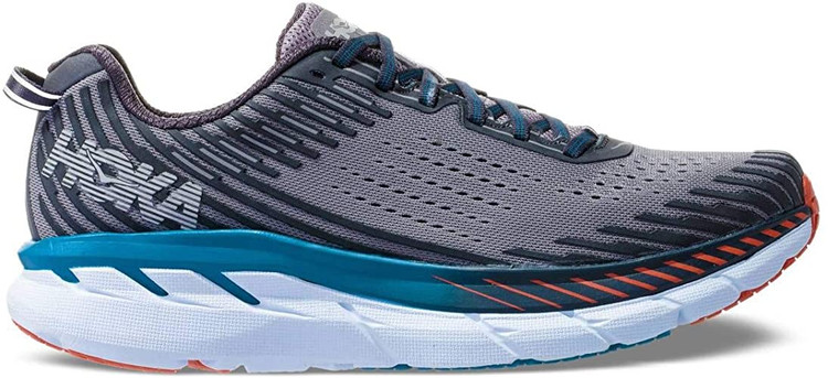 Hoka Men's Clifton 5 Frost Gray Ebony