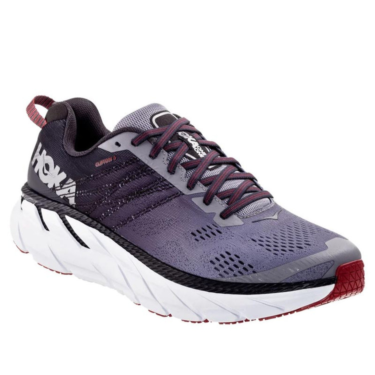 Hoka Men's Clifton 6 Gull Obsidian